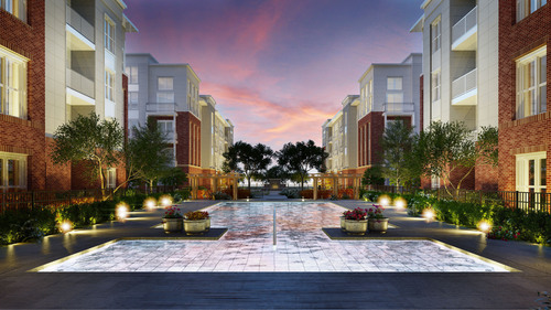 The Bozzuto Group, a Greenbelt, MD-based real estate services company, today announced that Flats170 at Academy Yard, a new midrise luxury apartment home community located in Odenton, Maryland, has commenced leasing.  The community offers a convenient location to Route 170 and 32, and promises to bring a new level of urban sophistication to Odenton.  (PRNewsFoto/The Bozzuto Group)