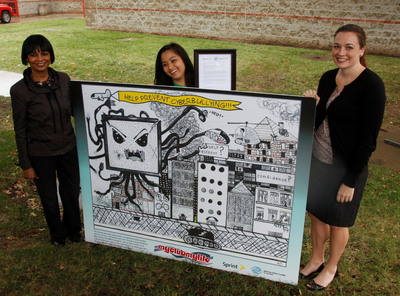 ATLANTA- Sprint Executives were on hand at Boys & Girls Clubs of Kansas City's Day for Kids Event where Alexis Cabero was officially announced the winner of Sprint's Media Safety Poster Contest. (Source: Boys & Girls Clubs of America)