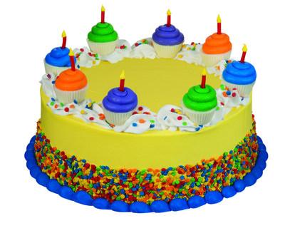 Baskin-Robbins' New Mini Cupcake Birthday Cake