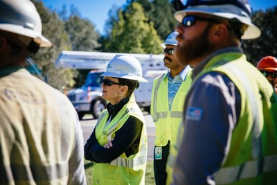 Duke Energy President and CEO Lynn Good spent Monday in the Raleigh area talking to  line crews about the challenges they face restoring service to customers.