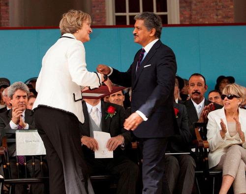 Anand Mahindra First Indian Honoured With Harvard Medal. (PRNewsFoto/Mahindra & Mahindra Ltd.) (PRNewsFoto/MAHINDRA _ MAHINDRA LTD_)