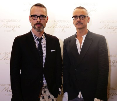 Viktor Horsting and Rolf Snoeren at the launch of their Viktor&Rolf Magic Collection (PRNewsFoto/Viktor&Rolf)