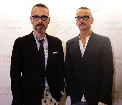 Viktor Horsting and Rolf Snoeren at the launch of their Viktor&Rolf Magic Collection (PRNewsFoto/Viktor&Rolf)