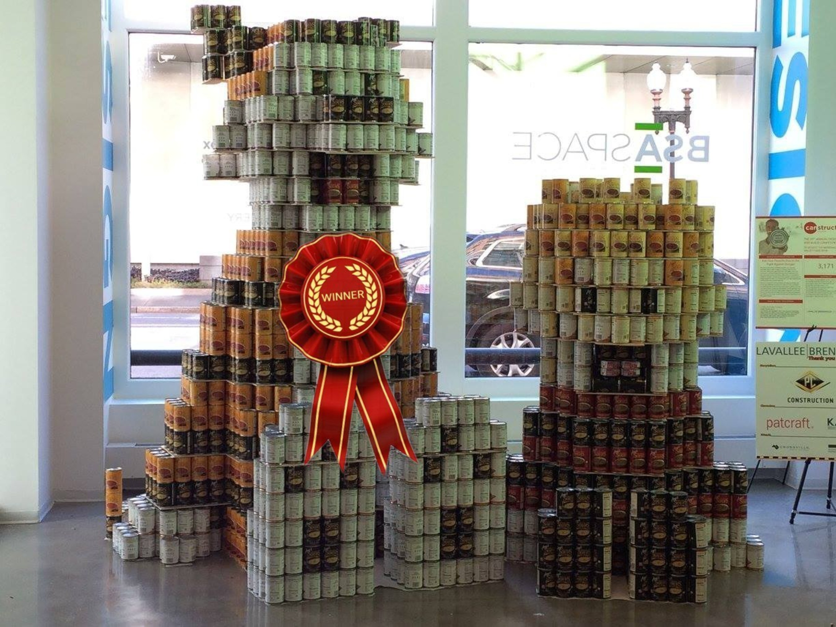 Lavallee Brensinger awarded People's Choice at 2015 Boston CANstruction