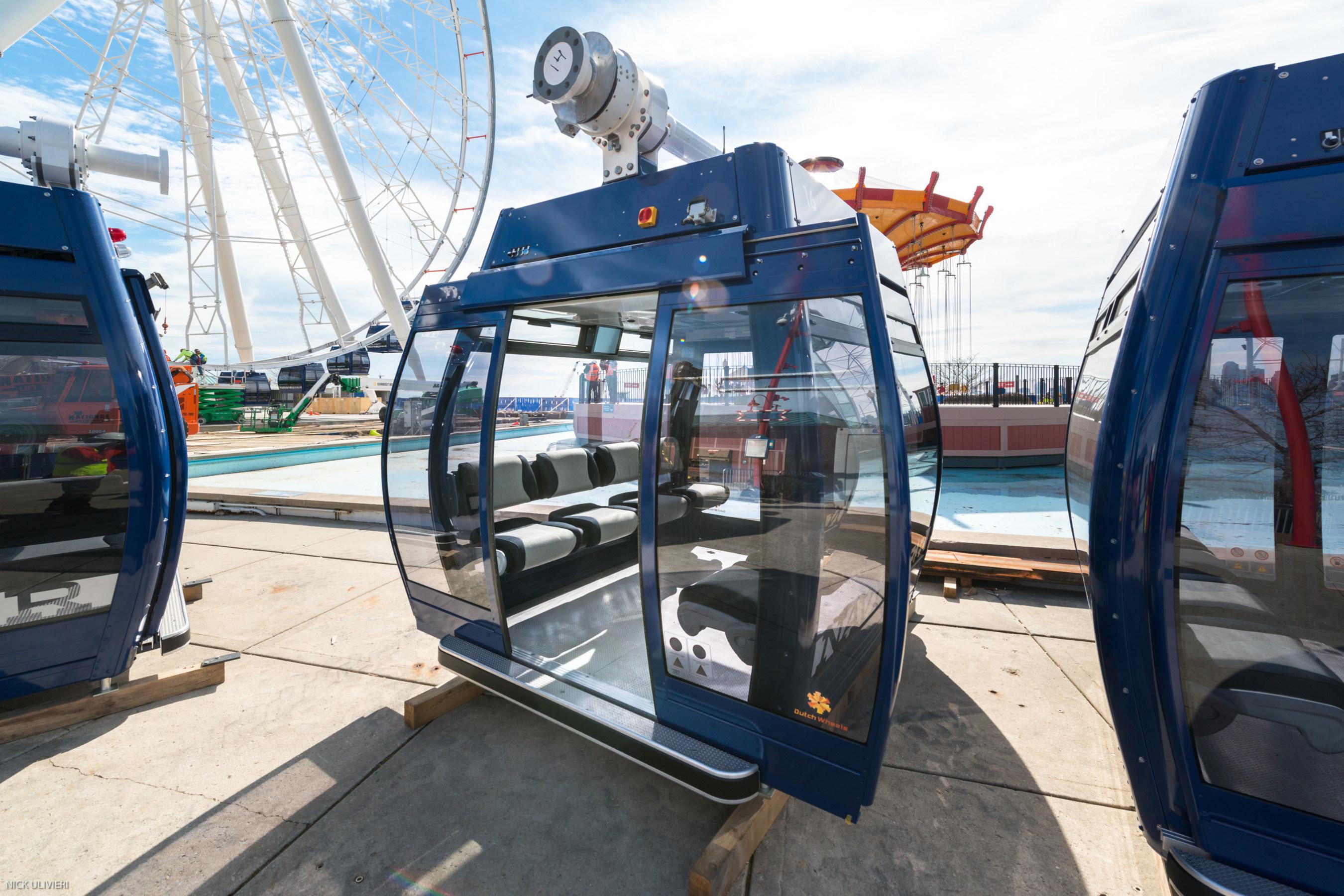 New Navy Pier Ferris Wheel Gondola Installation; Photo Credit: Nick Ulivieri