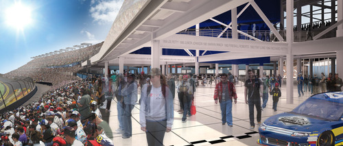 "The redevelopment of Daytona International Speedway, if approved, is designed to ""make us the 'World ..."