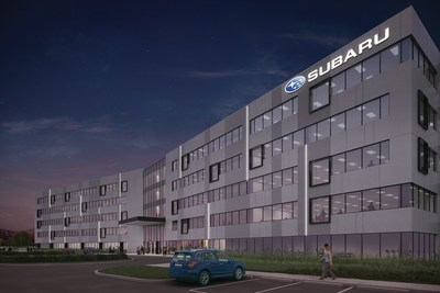 Rendering of Subaru of America's future headquarters in Camden, NJ; scheduled for completion at the end of 2017.