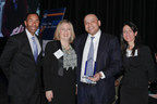 Treasurer Summers (center-right) receives his award with (from left to right): Tony Smith, PNC; Kristin Faust, President, NHS Chicago; and Becky Keeter, BMO Harris Bank.