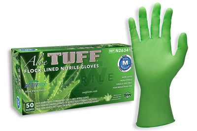 Soothing Aloe Vera and Interior Sweat Management Combine for Exceptional Hand Health in a Single Use Glove