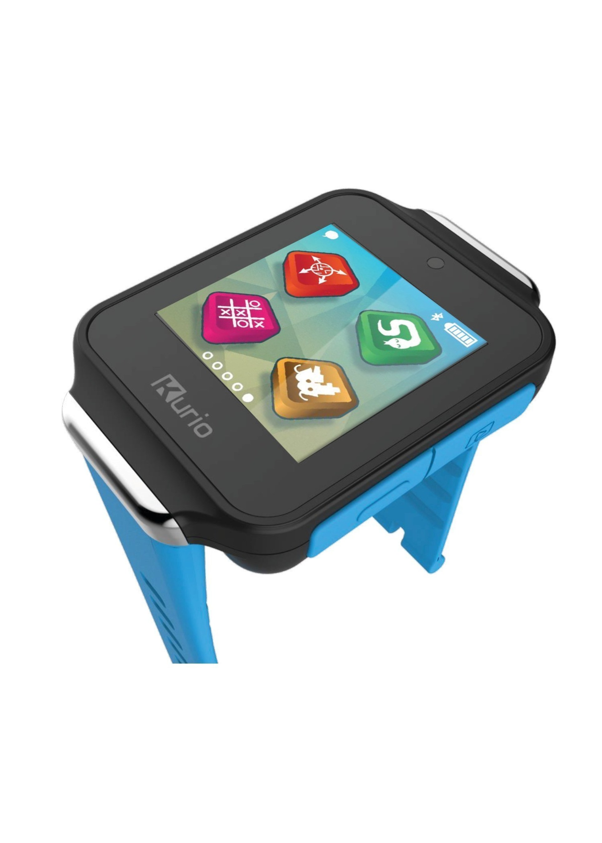 KD Group's Kurio Watch is a real, working Bluetooth smartwatch designed specifically for kids ages 6 to 12.  This fashion-forward, high-tech kids' wearable combines smartwatch functions with modern messaging capabilities, fun mini-games, a high-quality camera and video recorder, and more.
