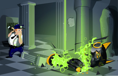 Artwork from '9 Lives' developed by Hungry Moose Games for Green Throttle.  (PRNewsFoto/Green Throttle Games)