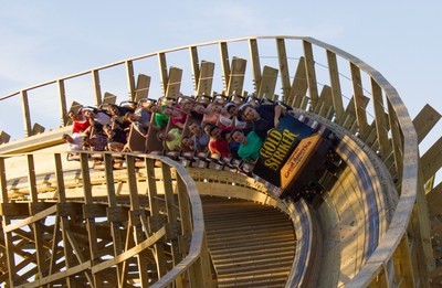 Gold Striker at California's Great America in Santa Clara is the tallest and the fastest wooden coaster in Northern California.