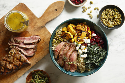 Pan-Seared Lamb Sirloin with Quinoa and Vibrant Veggies