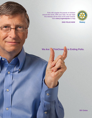 Rotary launches new public service announcement campaign focused on polio eradication.  (PRNewsFoto/Rotary International)