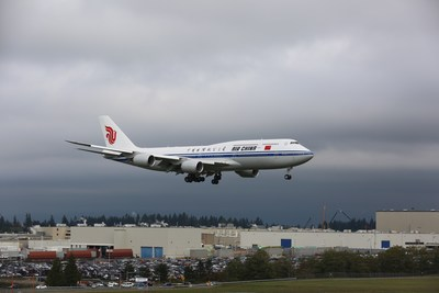 China's First New-Generation Boeing Jetliner B747-8 Delivered to Air China (PRNewsFoto/Air China)