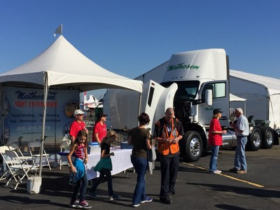 Matheson Trucking, Inc., will display a new liquefied natural gas (LNG) powered truck at the California Capital Air Show October 1-2 in the free Kid's Zone -- an opportunity to see this advanced technology and sit in the driver's seat.