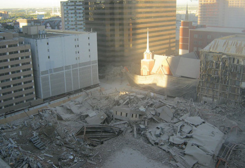 Implosion of Four Buildings Paves Way for 21st Century Campus at First Baptist Dallas: