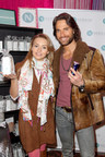 Actors Angelique Boyer and Sebastian Rulli enjoying Nerium's products at the 15th Annual Latin GRAMMY Awards(R) Official Talent Gift Lounge.
