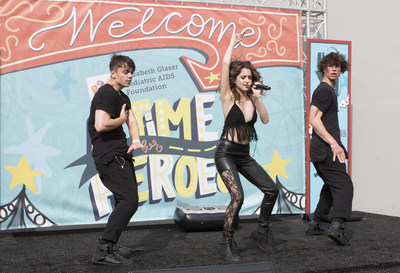 Laura Marano performs at 27th A Time for Heroes Family Festival in support of the Elizabeth Glaser Pediatric AIDS Foundation