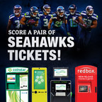 Enter to win a pair of Seattle Seahawks tickets by taking a #KioskSelfie. For details and official rules visit: http://bit.ly/1DlaVrQ (PRNewsFoto/Outerwall Inc.)