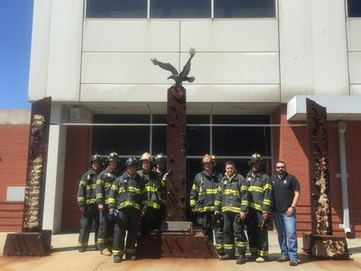 "Wounded veterans experience training at New York Fire Department's Fire Academy, also known as ""The Rock."""
