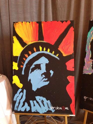 Lady Liberty by Erik Wahl.  (PRNewsFoto/Erik Wahl)