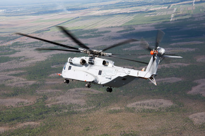 The first CH-53K aircraft achieves 120 knots at Sikorsky's Development Flight Test Center in West Palm Beach, FL