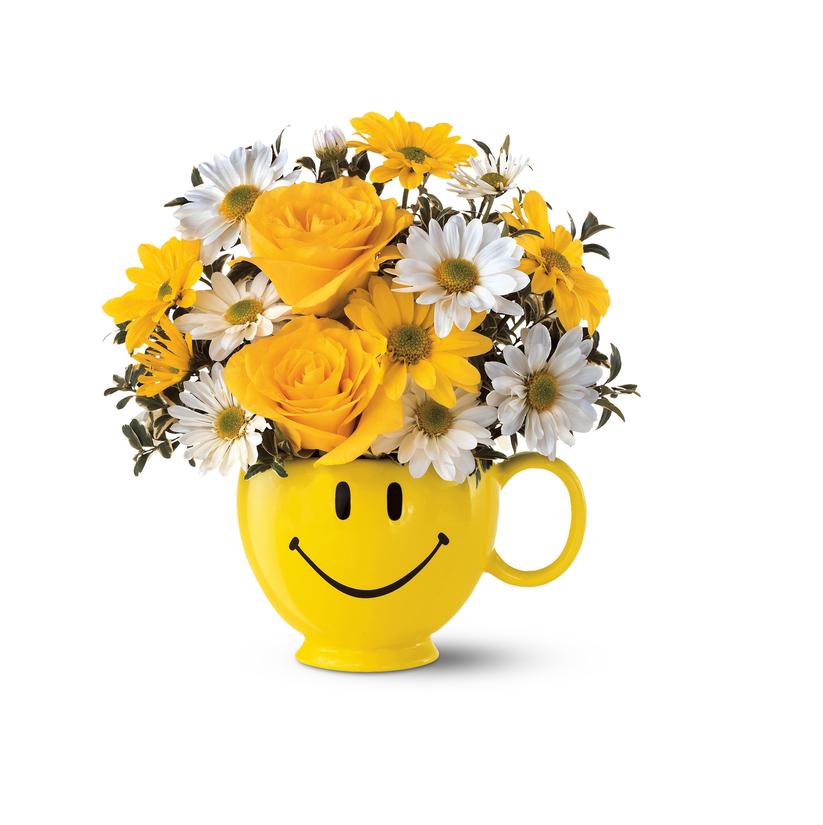 Teleflora's Be Happy Bouquet Honors Teleflora's 15th Annual Make Someone Smile(r) Week. (Photo courtesy of Teleflora.)