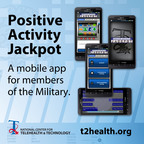 Positive Activity Jackpot is the newest mobile app from the Defense Department's National Center for Telehealth and Technology. The app helps returning service members adjust to life at home after a combat deployment. More information at www.t2health.org/apps.  (PRNewsFoto/National Center for Telehealth and Technology)