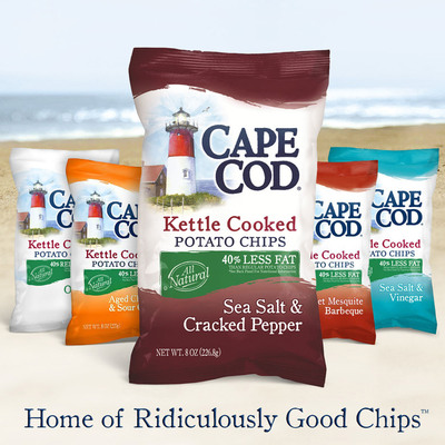 Cape Cod Lightens Up Its Sea Salt & Cracked Pepper Variety.  (PRNewsFoto/Cape Cod Potato Chips)