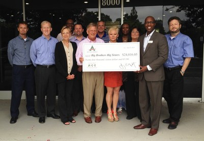 ACE employees present their $24,016 donation to Big Brothers Big Sisters. (PRNewsFoto/ACE Cash Express, Inc.)