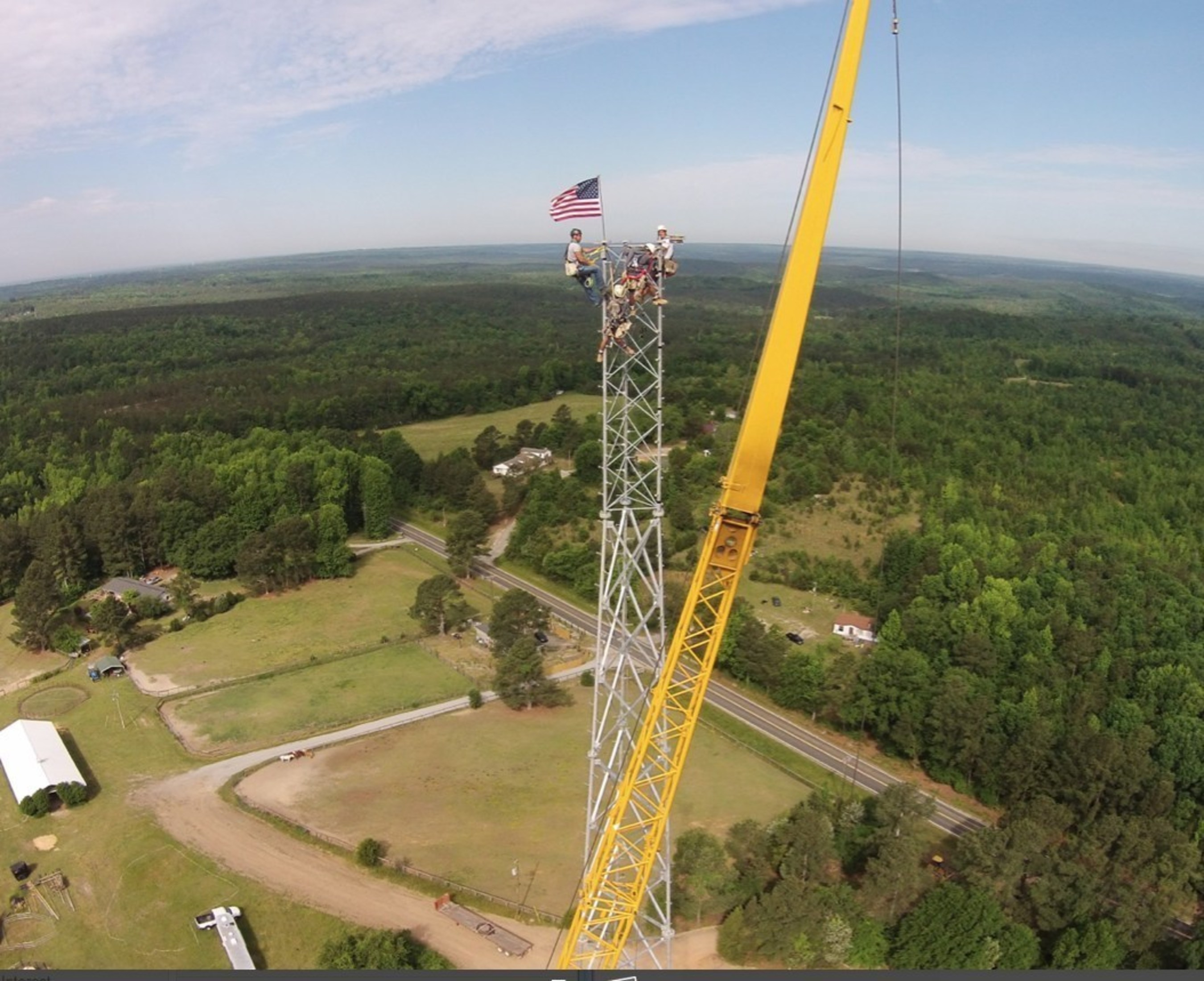 Subcarrier's latest completed tower development project in Ridgeway, South Carolina.