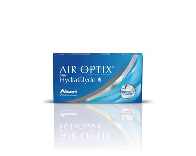 Alcon AIR OPTIX(R) plus HydraGlyde monthly replacement contact lenses