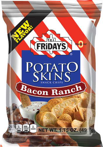 TGI FrIdays Adds Bacon Ranch Flavor to Popular Potato Skins Snack Chip Line (PRNewsFoto/Inventure Foods, Inc.)