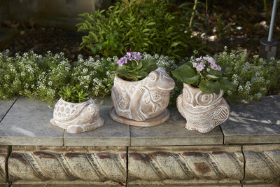 These terra cotta planters are made by hand from supported artisans in Bangladesh. To shop for more fair trade products visit serrv.org/crs