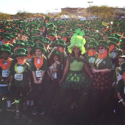 "St. Baldrick's Lepre-Con 2016 broke the world record for the ""largest gathering of people dressed as leprechauns!"""