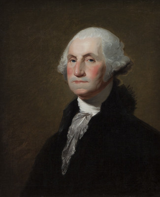 """Gilbert Stuart, """"Portrait of George Washington"""" sold for $1,025,000 at Dallas Auction Gallery on November 4th, this work was from the Collection of Sam Wyly, Dallas, Texas. This sale price is a world record for this type of portrait."""