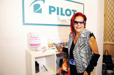 Pilot Pen is making writing fashionable with Patricia Fields at the GBK Styling Lounge at NY Fashion Week. #PenItFWD.  (PRNewsFoto/Pilot Corporation of America)