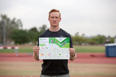 Olympic Athlete Greg Rutherford with DNAFit Report (PRNewsFoto/DNAFit)