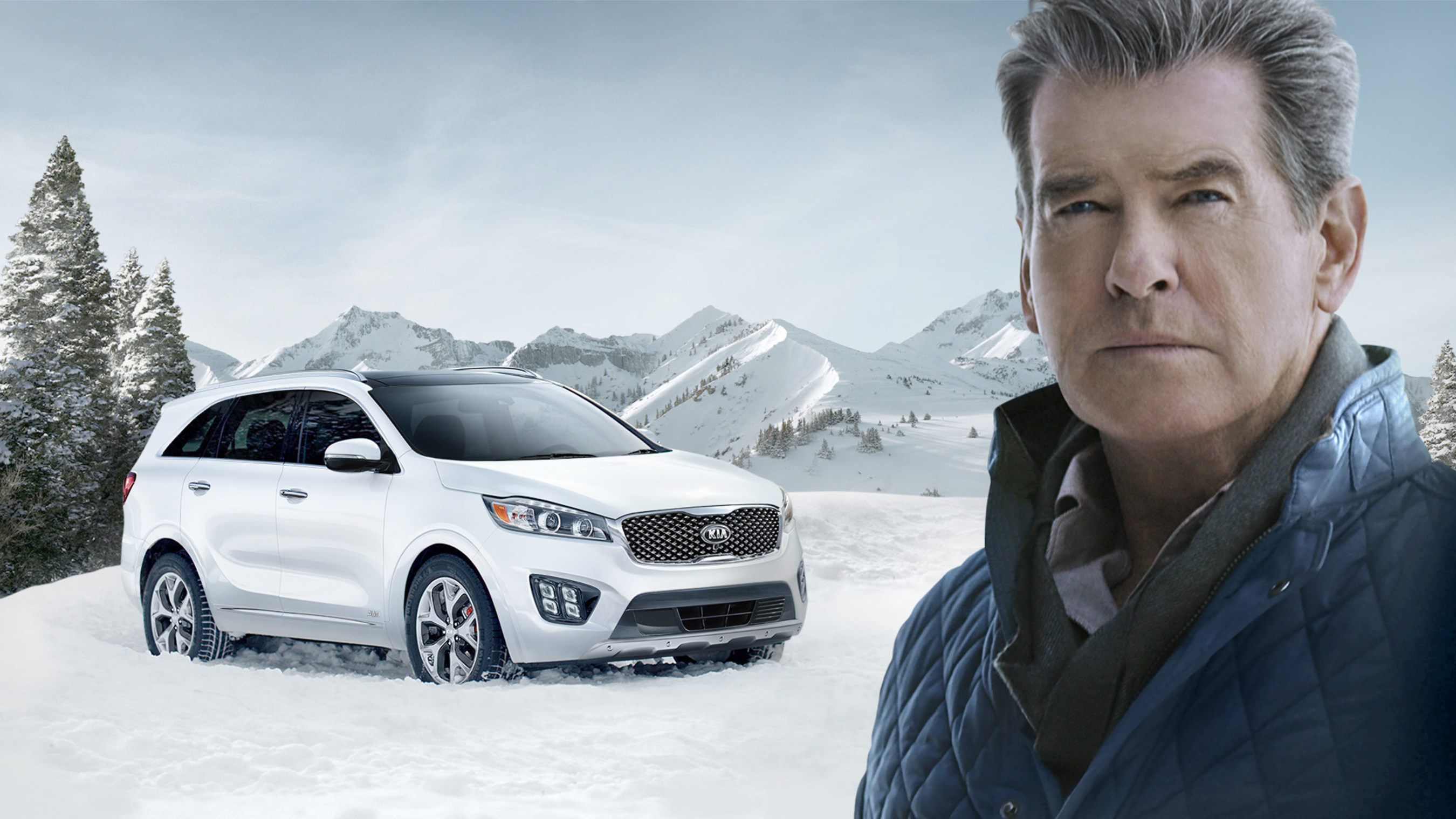 """Pierce Brosnan Makes The """"Perfect Getaway"""" In The All-New 2016 Sorento During Kia Motors' Super Bowl Commercial"""