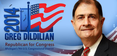 Dildilian for Congress, Michigan 9th. www.gregdforcongress.org.  (PRNewsFoto/Dildilian for Congress)