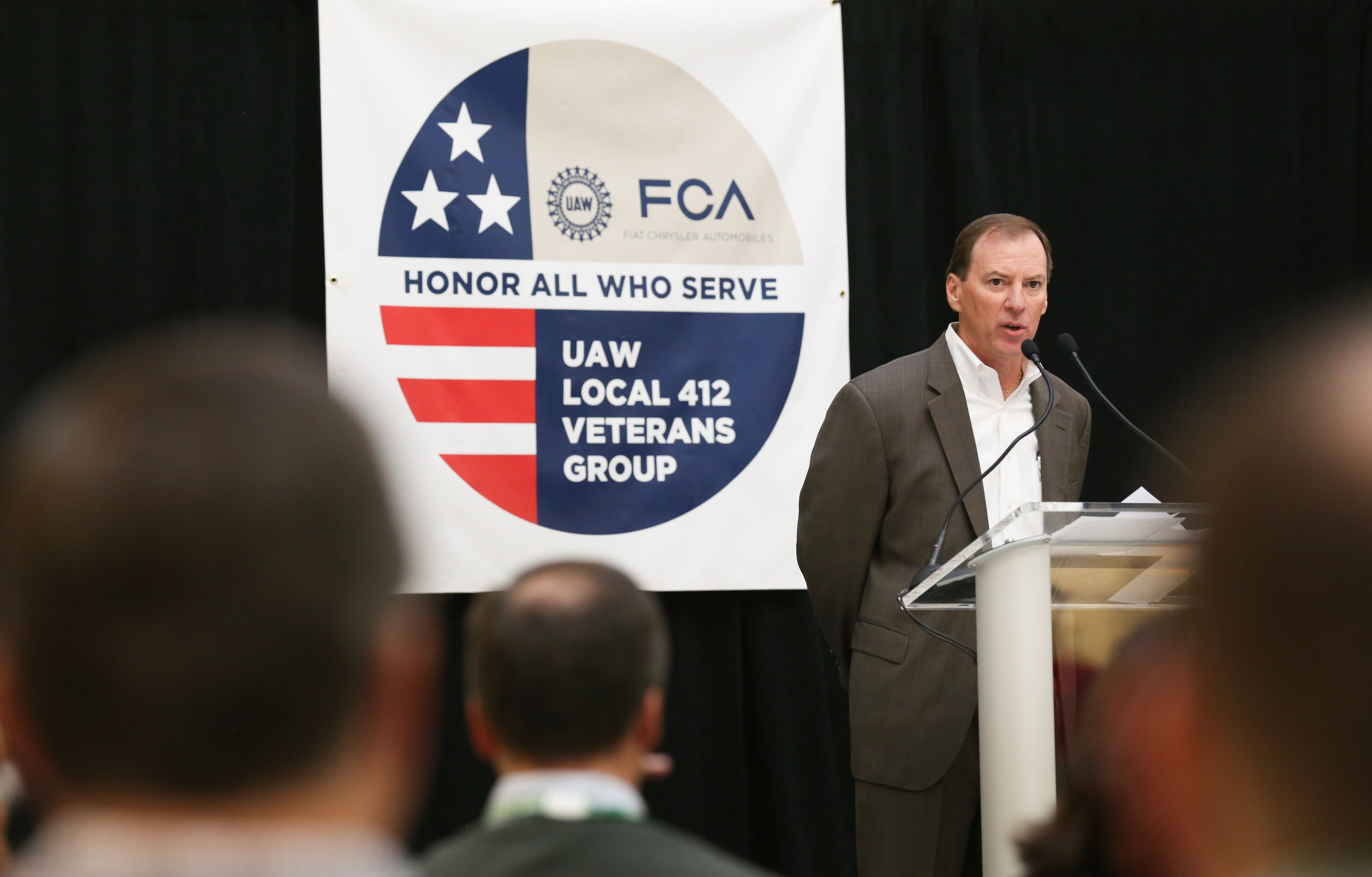 Glenn Shagena, Head of FCA US Employee Relations marked the Veteran's Day observance.