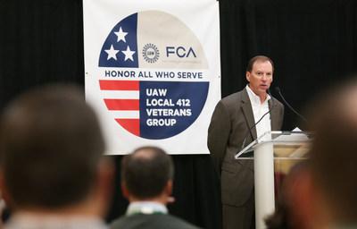 Glenn Shagena, Head of FCA US Employee Relations marked the Veteran's Day observance.