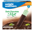 The new and improved line of Weight Watchers Frozen Novelties range between 45 and 90 calories per treat, have low saturated fat and no artificial sweeteners. The treats are available at retail stores nationwide with a suggested retail price of $4.99 per carton. The new Dark Chocolate Mint Ice Cream Bars (3 SmartPoints(TM) value; 60 calories per bar) include mint low fat ice cream dipped in a dark chocolate flavored coating.