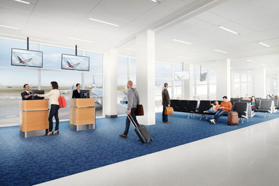 A modern travel experience with American's fresh look arrives at DFW Terminal A.  (PRNewsFoto/American Airlines)