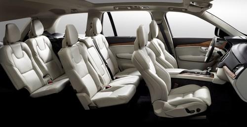 Volvo XC90 seating side view. (PRNewsFoto/Johnson Controls) (PRNewsFoto/Johnson Controls)
