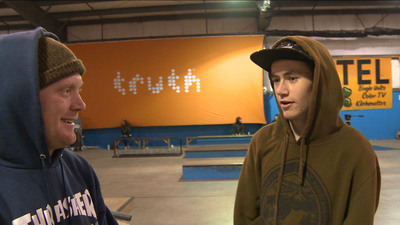 Skaters, skiers and snowboarders go to Windells Academy to prepare for careers in extreme sports. In one episode of My Side of the Sky, the truth(R) campaign partners with the Academy to help bring a skate competition the school. (PRNewsFoto/The truth Campaign) (PRNewsFoto/THE TRUTH CAMPAIGN)