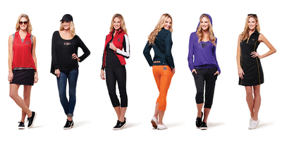 Tail Activewear's new line of collegiate licensed merchandise continues its commitment to delivering quality, fashionable apparel for the active lifestyle of today's woman.  (PRNewsFoto/Tail Activewear)