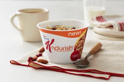 Special K Nourish Cranberry Almond hot cereal.  (PRNewsFoto/Kellogg Company)