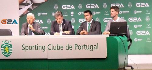 The Sporting Club de Portugal conference to announce the start of their eSports Team (PRNewsFoto/G2A.com)
